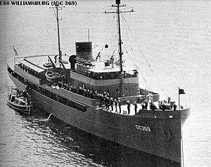 USS Williamsburg 1946