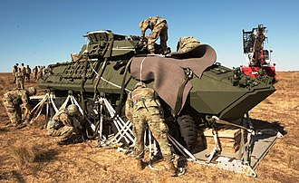 United States Army Test and Evaluation Command - where U.S. Army paratroopers prepare the LAV and its weapons for action...