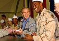 US Navy 031127-F-5435R-009 President George W. Bush pays a surprise visit to Baghdad International Airport (BIAP).jpg
