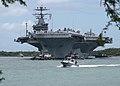 US Navy 040629-N-9076B-008 The Nimitz-class aircraft carrier USS John C. Stennis arrives in Pearl Harbor, Hawaii.jpg