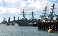 US Navy 040702-N-4304S-136 Warships from several nations sit pierside at Naval Station Pearl Harbor, Hawaii.jpg