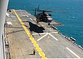 US Navy 050715-N-0050M-001 An MH-53E Sea Dragon helicopter lands on the flight deck aboard the amphibious assault ship USS Saipan (LHA 2).jpg