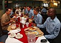 US Navy 050819-N-7781D-048 Chief of Naval Operations Adm. Mike Mullen eats breakfast with Sailors at the Naval Air Station (NAS) Jacksonville galley.jpg