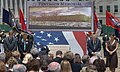 US Navy 060615-N-2383B-063 Ceremony participants stand in prayer during the benediction and conclusion of a Pentagon groundbreaking ceremony for the 9-11 memorial monument.jpg