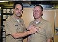 US Navy 071218-N-5476H-007 Rear Adm. John Bird, Deputy Commander and Chief of Staff, U.S. Pacific Fleet presents.jpg