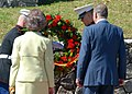 US Navy 090219-N-1522S-009 Spain's King Juan Carlos I and Queen Sofia lay a wreath with Marines at Fort George in remembrance of General Bernardo de Galvez and his army.jpg