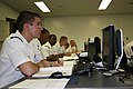 US Navy 090728-N-1232V-015 Postal Clerk 3rd Class Ronald Lee Murray III joins fellow postal clerks in a class designed to teach the fundamentals of the storekeeper rate.jpg