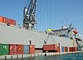 US Navy 100213-N-9643W-280 Sailors unload humanitarian supplies in Haiti.jpg