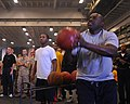 US Navy 100704-N-3852A-799 Master-at-Arms 1st Class Cleveland Lee participates in a three-point basketball shoot-out.jpg