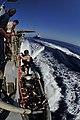 US Navy 110514-N-XO436-306 Marines assigned to the San Antonio-class amphibious transport dock ship USS Mesa Verde (LPD 19) disembark from the Arle.jpg