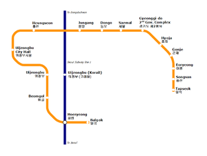 U Line - VAL network map