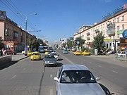 Traffic in Ulaanbaatar