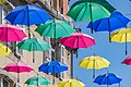 Umbrellas at rue Chazerat in Aurillac 03.jpg