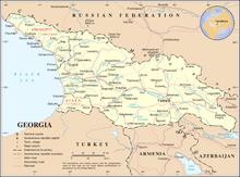 Georgia Wikipedia La Enciclopedia Libre - Mapa de georgia