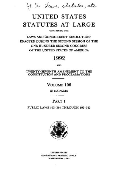 File:United States Statutes at Large Volume 106 Part 1.djvu