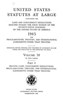 United States Statutes at Large Volume 59 Part 2.djvu