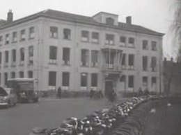 Opnames in 1959 van Huis Lepelenburg als het Universiteitshuis