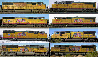 EMD SD70 series - A comparison of the various versions of the SD70's as operated by Union Pacific Railroad