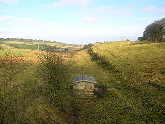 Uplawmoor (L&A) railway station - Image: Uplawmoor view towards Neilston