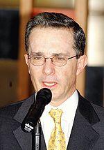 �lvaro Uribe V�lez, atual presidente colombiano.
