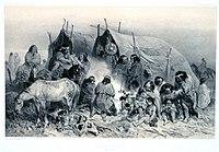 Grupo de tehuelches (dibujo de 1832)