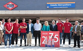 Wanda Metropolitano - Inaguration of the new access to Estadio Metropolitano Metro station 2017