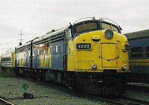 VIA FP9ARM - Image: VIA Rail FP9ARM 6303
