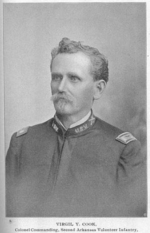 142nd Field Artillery Regiment - COL Virgil Y. Cook, Commander, 2nd Arkansas Volunteer Infantry