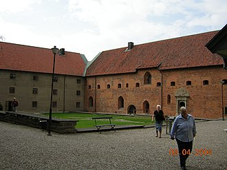 Vadstena Abbey - The inner yard of the Abbey