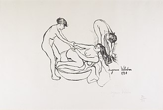 Suzanne Valadon - Suzanne Valadon, Women, c.1895 (1932 edition) lithograph, Gift of Mary and Robyn Campbell 2003.156.30 Minneapolis Institute of Art