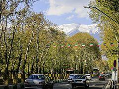 Vali Asr St during Nowruz