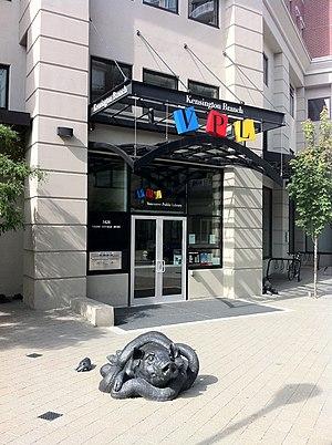 Vancouver Public Library - Entrance to the Kensington Branch