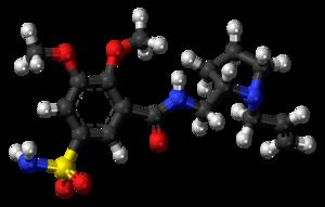 Veralipride - Image: Veralipride molecule ball