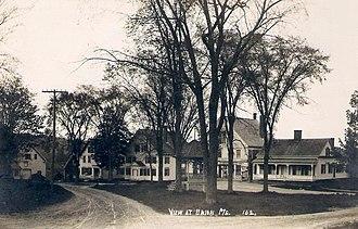 Union, Maine - Union Common in 1915