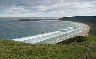 The Catlins - The distant Tautuku Peninsula hosted an early whaling station.