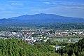 Views of Mount Moriyoshi from Takanosu, Kitaakita 2021.jpg