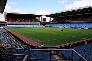 Villa Park football stadium in Aston, Birmingham, England