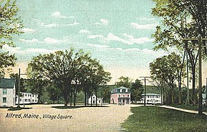National Register of Historic Places listings in York County, Maine - Image: Village Square, Alfred, ME
