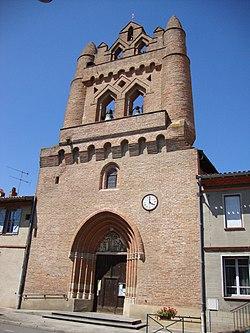 Villenouvelle (Haute-Garonne, Fr) église de style toulousain.JPG