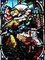 Villeréal - Église Notre-Dame - Vitrail de l'histoire de Moïse - 1.jpg