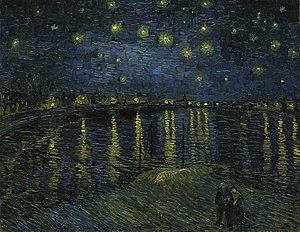 Notte stellata sul rodano wikipedia for Dipinto di van gogh notte stellata