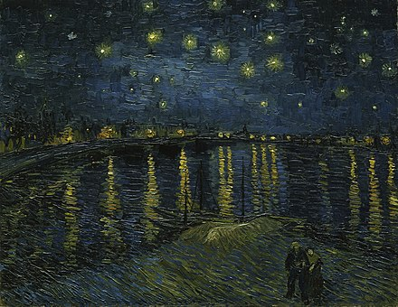 Starry Night Over the Rhone, 1888. Musée d'Orsay, Paris