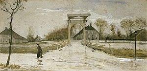 Drawbridge in Nieuw-Amsterdam - Image: Vincent van Gogh Ophaalbrug in Nieuw Amsterdam