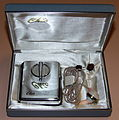 Vintage Chic Transistorized (Body) Hearing Aid, Model TR-6, 4 Transistors, Manufactured By Conny Industrial Co., Ltd., Made In Japan, Circa Early 1960s (14961090536).jpg