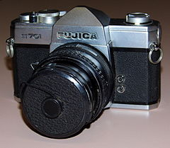 Vintage Fujica ST-701 35mm SLR Film Camera, Made In Japan, Circa 1971 (16217571998).jpg