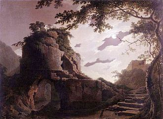 Virgil's Tomb (Joseph Wright paintings) - Virgil's Tomb: the 1782 version in Derby Museum and Art Gallery