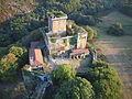 Vista aérea del castillo de Pambre.JPG