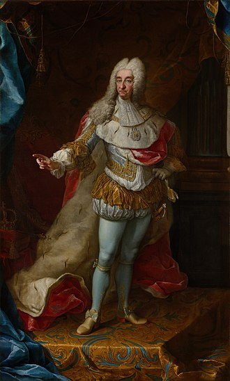Victor Amadeus II of Sardinia - Portrait of Vittorio Amedeo II in majesty, by Martin van Meytens (1728, Palace of Venaria)