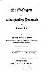 Volkssagen und volksthümliche Denkmale der Lausitz