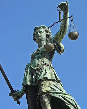 Français : Le glaive et la balance, symboles d...